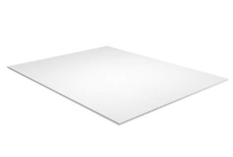plaskolite white corrugated plastic sheet 157 inch x 48