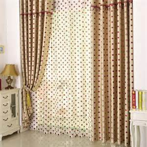 bedroom blackout curtains of dots pattern for good usage