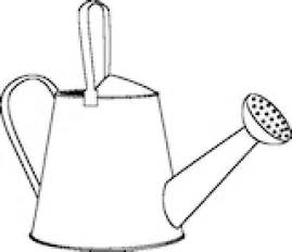 Water Pot Outline by Drawing Of A Watering Can Clipart Best