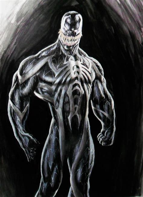 venom painting venom concept by william soares by williamsoaresart on