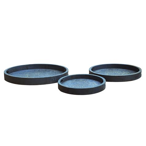 light cvc crestview collection cvtra356 decorative tray pack of 3