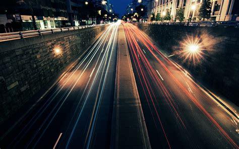 city long exposure walls lights urban light trails hd