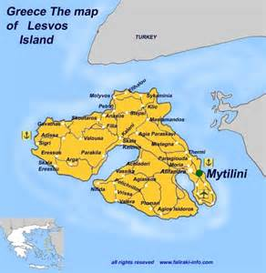 Lesvos Greece Map by Map Of Lesvos Island Map Of Mytilini Greek Islands