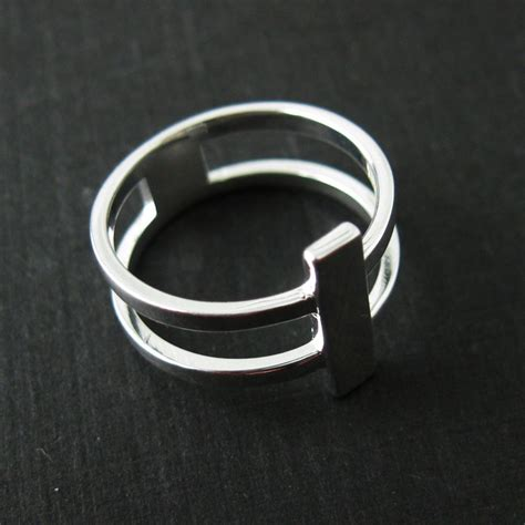 925 sterling silver band ring silver banded