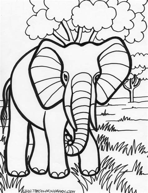 masami lauman 14 elephant coloring pages for kids
