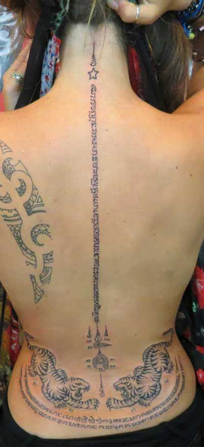 traditional thai buddhist tattoo sak yant sak yant