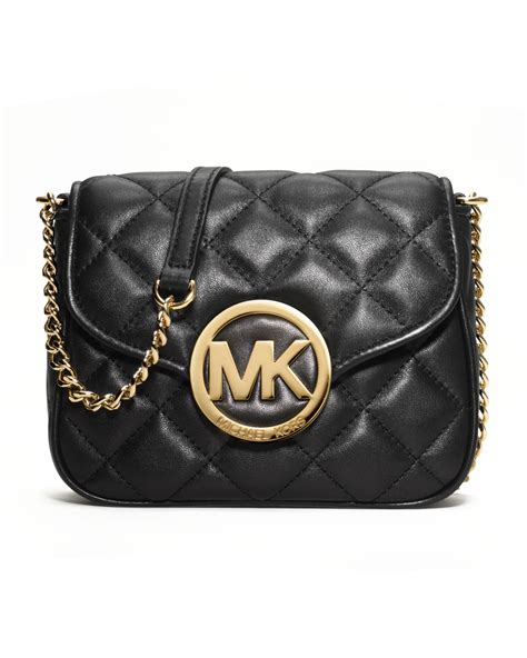 Michael Kors Crossbody Quilted michael kors fulton quilted crossbody in black lyst