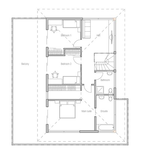 new house plans 2014 modern house plan with large balcony house plan ch238 house plan