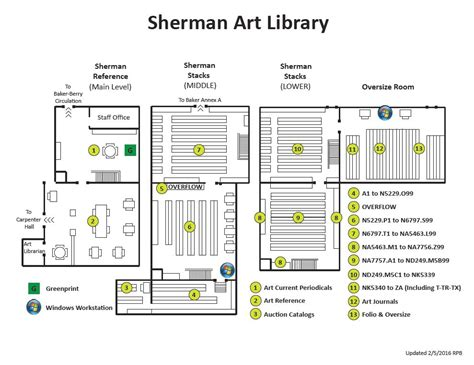 floor plan guide sherman art library floor plan