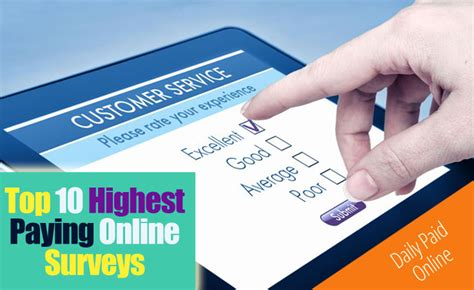 Top Paid Surveys - top 10 highest paying survey sites that pay via paypal