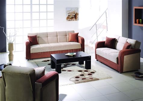 beige sofa living room beige brown contemporary living room w fold down sleeper
