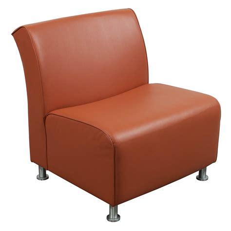 Steelcase Jenny Used Leather Reception Chair Orange Reception Desk Chair