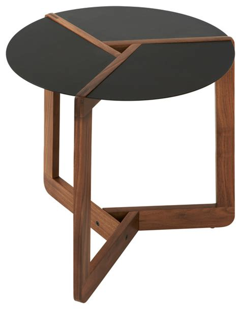 modern accent table blu dot pi small side table walnut modern side tables