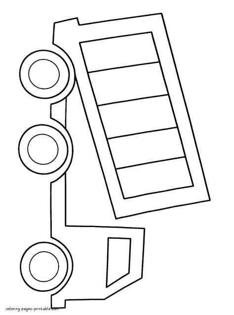 Simple Dump Truck Coloring Pages by Coloring Page For Boys Dump Truck