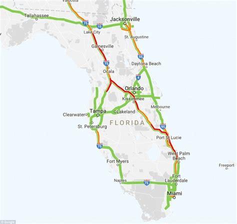 florida traffic map traffic nightmares as flee florida before irma hits