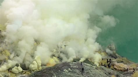 Kawah Ijen Crater Is One Of The Most Important Sulfur