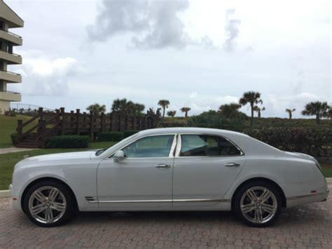 bentley white 4 doors 2011 bentley mulsanne 4 door sedan white tan leather