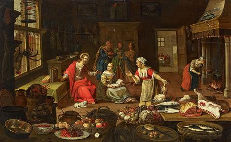 Aufnäher Von C David by Fil Georg Friedrich Stettner Attr Christus Im Hause Der