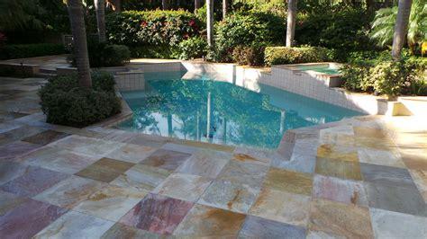 pool deck cleaning  sealing brick paver sealing