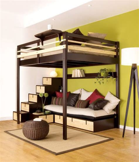 diy make loft bed with futon underneath plans plans built