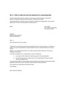 debt settlement letter sample 1