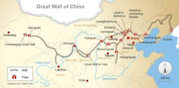 Great Wall Of China Map by The Great Wall Of China Map Joltframework