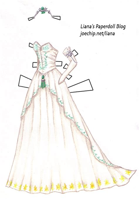 paper dolls with white wedding dresses tres chic paper doll gowns by liana ggvogue