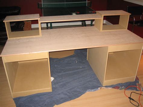 Diy Desk Build Inspired By Many Gearslutz Pro Audio Computer Desk Plans Diy