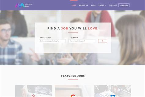 bootstrap templates for job portal free bootstrap 4 job board template 15 pages 6 colours sass