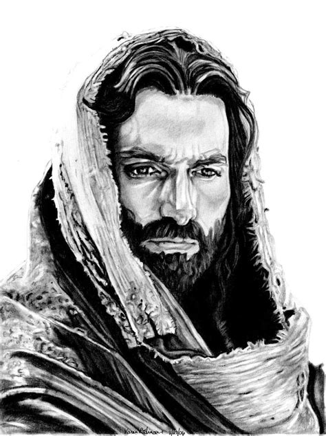 Black And White Drawings Of Jesus by Jim Caviezel As Jesus By Khinson On Deviantart