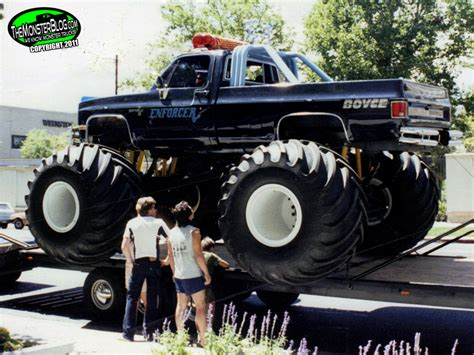 bigfoot monster truck wiki image truck enforcer jpg monster trucks wiki fandom
