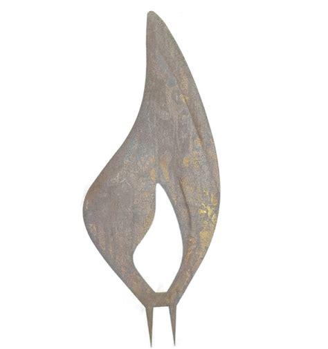 holz flämmen rostige flamme 40 cm hochrostige flammenwinter