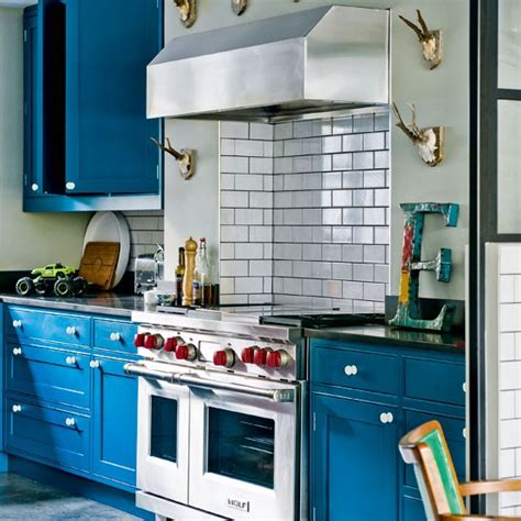 blue kitchen decor blue painted kitchen housetohome co uk