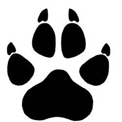 wolf paw print pictures clipart