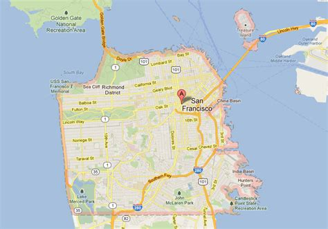 san francisco hearts map san francisco california