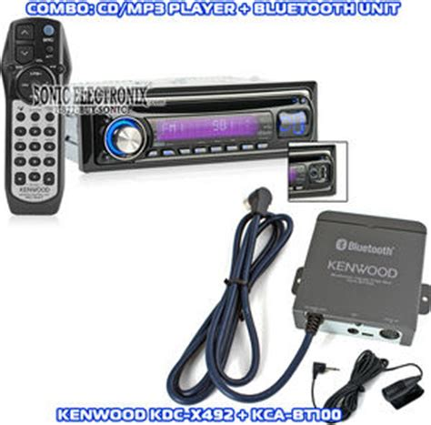 Kenwood Kca Bt100 kenwood kdc x492 kca bt100 kdcx492 kcabt100 combo bluetooth