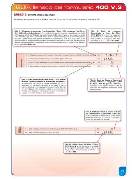 formulario 200 version resumida para descargar guia para el llenado de los formularios 200 y 400 v3 guia