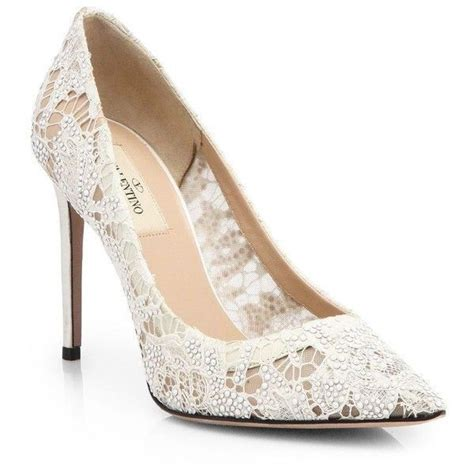 Jellyshoes Valentino valentino coated embellished lace pumps wedding
