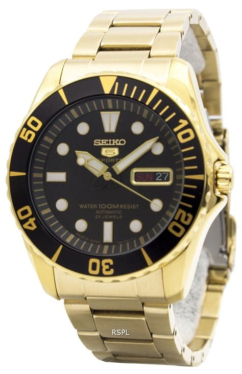 Seiko 5 Otomatis Japan seiko 5 sports automatic 23 jewels japan made snzf22j1