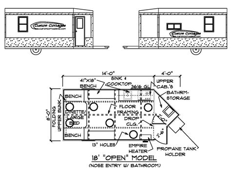 ice house floor plans custom cottages inc mobile shelter design for ice