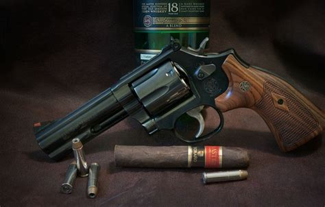section 357 c wallpaper whiskey cigar revolver weapon smith wesson