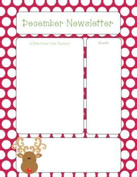 december newsletter template free december newsletter template pinteres