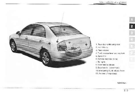auto repair manual online 2005 kia spectra parking system 2005 kia spectra owners manual