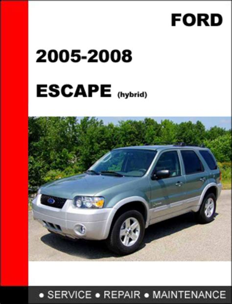 service and repair manuals 2000 ford escape electronic toll collection encontr 225 manual owners manual for 2008 ford escape hybrid