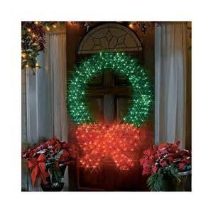 Outdoor Lighted Wreath 48 Quot Lighted 3 D Outdoor Wreath Decoration Patio Lawn Garden