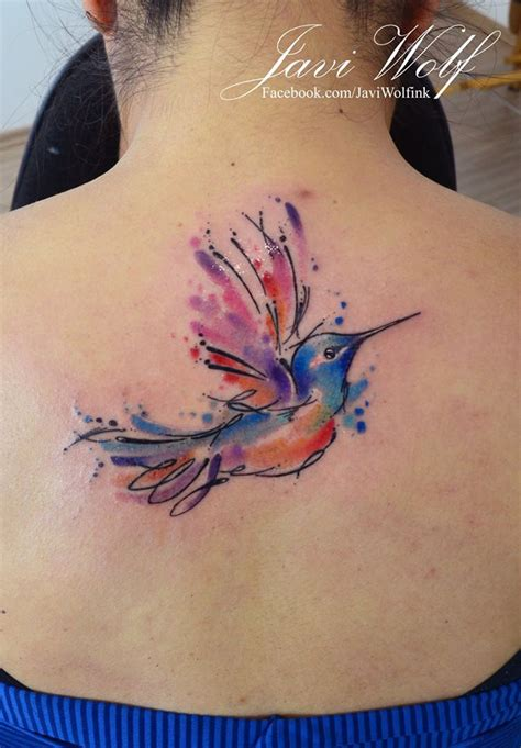 watercolor tattoo guadalajara colibr 237 estilo acuarelas por javi wolf tatoo and