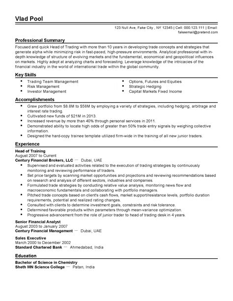 Resume Maker Dubai financial analyst description dubai resume builder