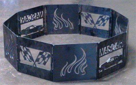 Cing Pit Rings cfire pit ring racing 40 quot decagon heavy duty steel 10 panels