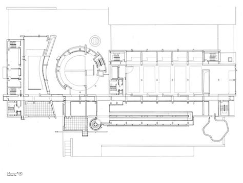first floor plan of bmca by richard meier richard meier
