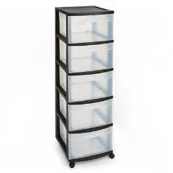 5 Drawer Storage Drawers Sterilite 174 5 Drawer Plastic Storage Cart Big Lots
